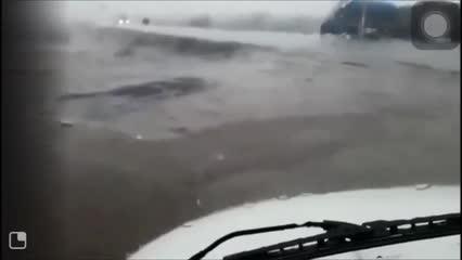 Moradores do Sertão são surpreendidos por chuva de granizo
