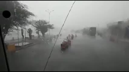 Caminhoneiro filma temporal em Delmiro Gouveia