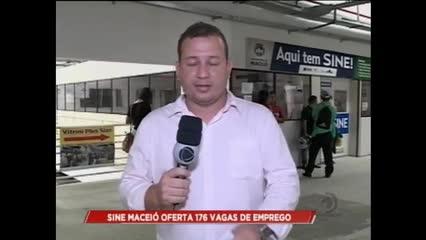 O SINE Maceió oferta 176 vagas de emprego
