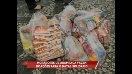 Moradores de Arapiraca fazem doações para o Natal Solidário