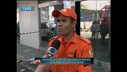 Princípio de incêndio em cartório no Centro de Maceió