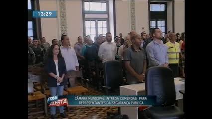 Câmara Municipal entregou comendas para representantes da Segurança Pública