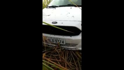 Taxista encontra carro abandonado em canavial as margens da AL-101 Norte