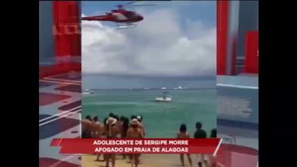 Adolescente de Sergipe morre afogado em praia de Alagoas
