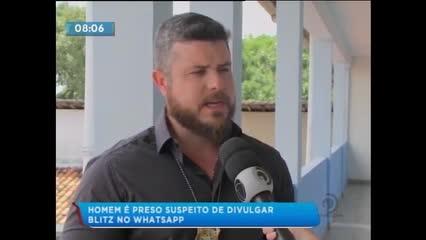 Um homem de 35 anos foi preso suspeito de divulgar blitz no WhatsApp