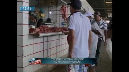 Comerciantes cobram melhorias no Mercado da Produção