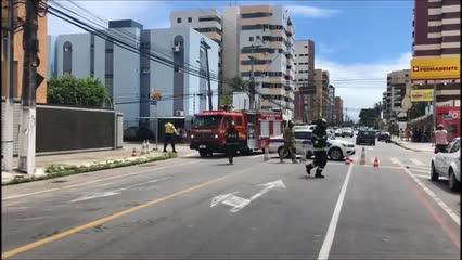 Bombeiros são acionados para vazamento na Deputado José Lage