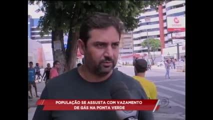 População se assusta com vazamento de gás na Ponta Verde