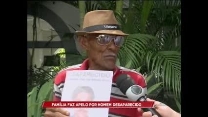 Família faz apelo por homem desaparecido