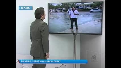 Moradores do Pinheiro ficaram assustados com boato sobre nova rachadura