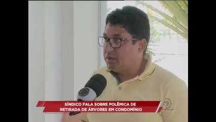 Sindico fala sobre polêmica de retirada de árvores em condomínio