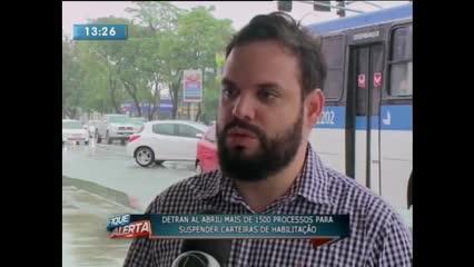 DETRAN-AL abre mais de 1500 processos de suspensão da CNH