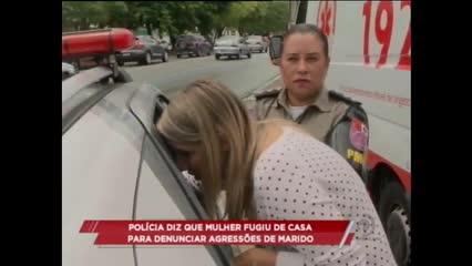 Policia diz que mulher fugiu de casa para denunciar agressões de marido