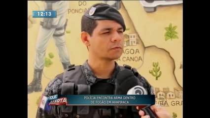 Polícia encontrou arma dentro de fogão em Arapiraca