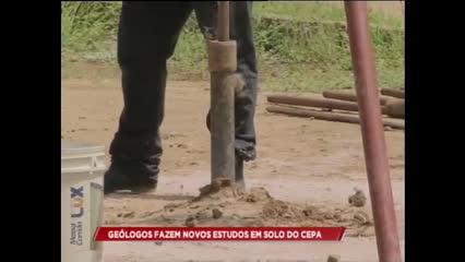 Geólogos fazem novos estudos em solo no CEPA