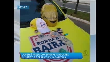 Jovem foi preso acusado de tráfico de drogas em Jacarecica