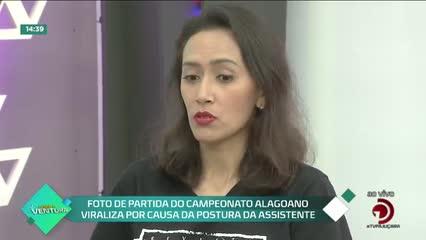 Foto de partida do campeonato alagoano viraliza por causa da postura da assistente - Bloco 02