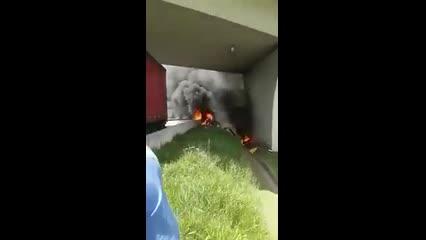 Resgate de motorista de carreta atingida por helicóptero