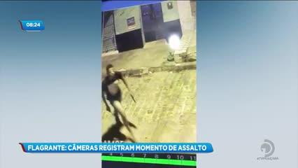 Câmeras de segurança registram assalto no bairro do Vergel