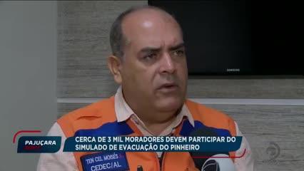 Cerca de 3 mil moradores devem participar do simulado de evacuação do Pinheiro