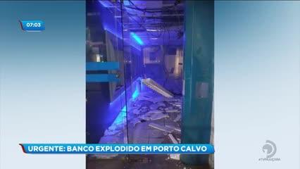 Duas agências bancárias foram explodidas por bandidos em Porto Calvo