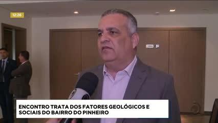 Encontro trata dos fatores geológicos e sociais do bairro do Pinheiro