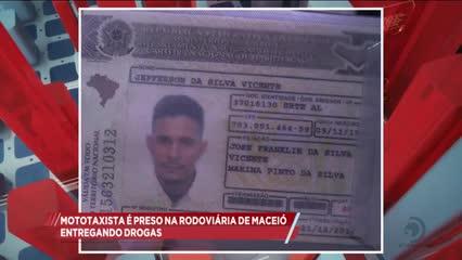 Mototaxista é preso na rodoviária de Maceió entregando drogas