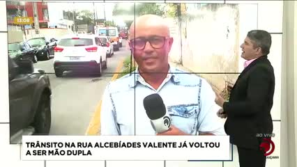Trânsito na Rua Alcebíades Valente já voltou a ser mão dupla