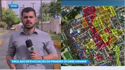 Amanhã vai acontecer o simulado de evacuação do bairro do Pinheiro