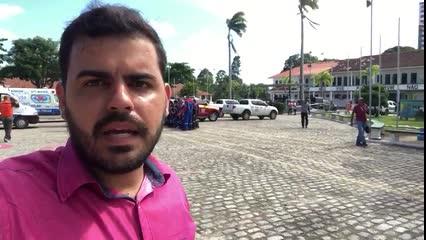 Henrique Pereira fala direto do ponto zero do plano de evacuação do Pinheiro