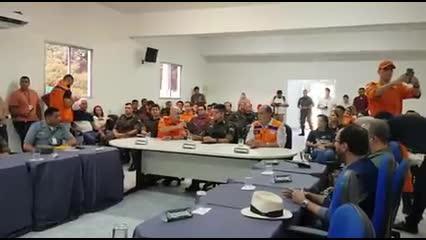 No quartel, autoridades alinham ações para o Simulado no Pinheiro