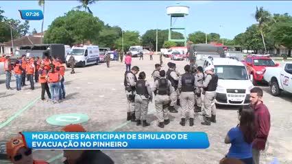 Moradores do Pinheiro participaram de simulado de evacuação
