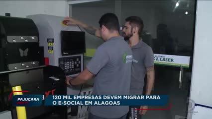 Cerca 120 mil empresas em Alagoas devem migrar para o eSocial até o mês de abril