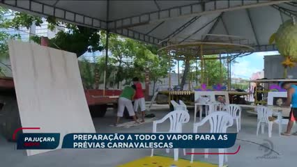 Os preparativos para as prévias carnavalescas da capital