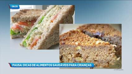 Pausa do Café: Alimentos saudáveis para as crianças