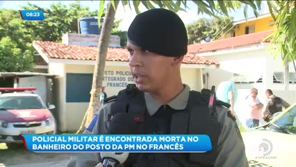 Policial Militar é encontrada morta no banheiro do posto da PM no Francês