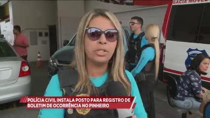 Polícia Civil instala posto para registro de Boletim de Ocorrência no Pinheiro