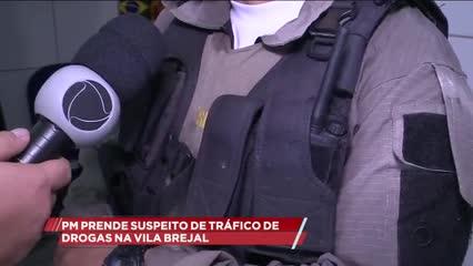 PM prende suspeito de tráfico de drogas na Vila Brejal