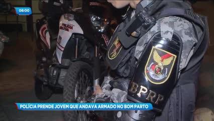 Jovem foi preso por porte ilegal de arma de fogo no Bom Parto
