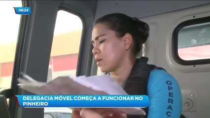 Delegacia móvel começa a funcionar no Pinheiro