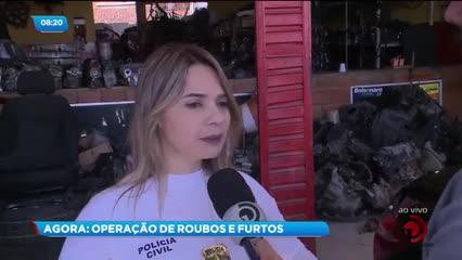 Operação policial combate a roubo e desmanche de veículos em Maceió