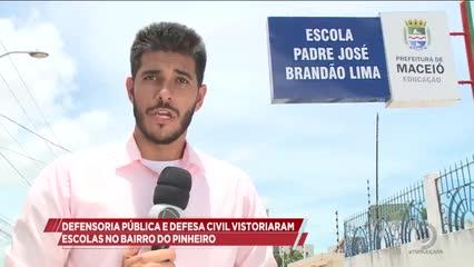 Defensoria Pública e Defesa Civil vistoriaram escolas no bairro do Pinheiro