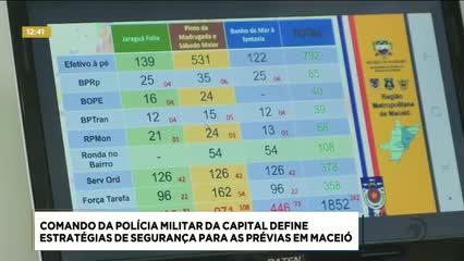 Comando da Polícia Militar  da capital define estratégias de segurança para prévias em Maceió