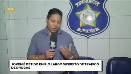 Jovem foi preso suspeito de tráfico de drogas em Rio Largo