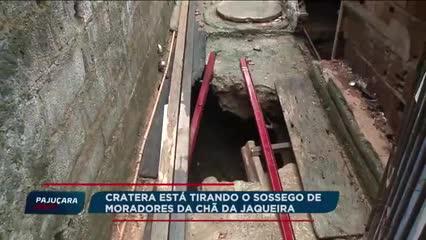 Cratera tira o sossego de moradores da Chã da Jaqueira