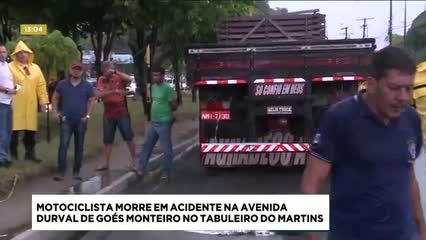 Motociclista morreu em acidente na Av. Durval de Góes Monteiro no Tabuleiro do Martins