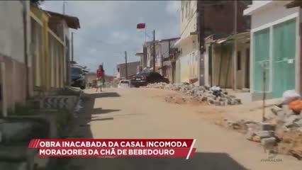 Obra inacabada da CASAL incomoda moradores da Chã de Bebedouro