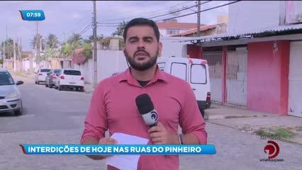 Estudos da CPRM modificam o trânsito no bairro do Pinheiro nesta sexta