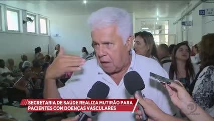 Secretaria Municipal de Saúde realizou mutirão para atender pacientes com doenças vasculares