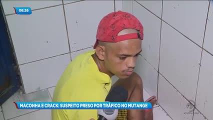 Jovem foi preso acusado de tráfico de drogas do Mutange